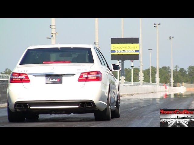 RENNtech Mercedes E63 vs RENNtech CLS63 AMG BiTurbo - Drag Video - 11.09 @ 129 mph Street Car Drags