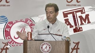 Hear what a proud Saban had to say after Alabama's win over Texas A&M