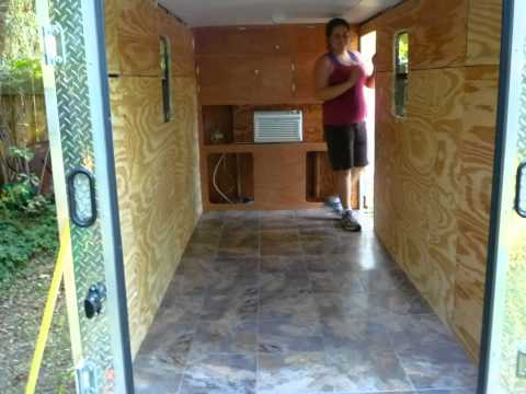 Cargo Trailer Into Camper Diy Youtube