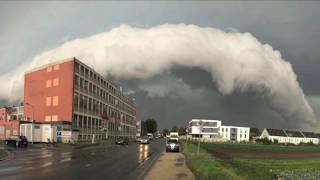 Mega Shelfcloud über Nürnberg