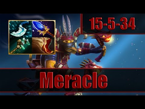 Meracle plays Shadow Shaman with 34 Assists - Dota 2