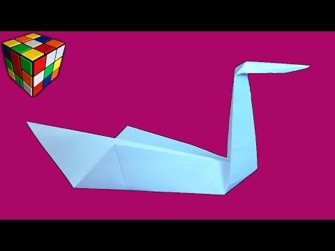 Оригами лебедь. Как сделать лебедя из бумаги своими руками. Поделки из бумаги.