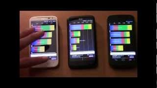 HTC One X vs HTC Sensation XL vs Samsung Galaxy Nexus benchmarks quadrant, nenamark 2, speedtest