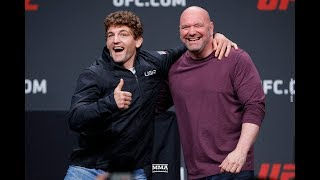 Ben Askren Cozies Up to Dana White in Absence of Jorge Masvidal at UFC Press Conference