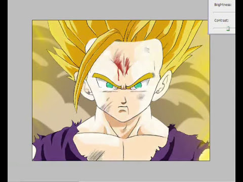 epicBrush :: Son Gohan SSj2 (Dragon Ball Z) - Speed Painting [Adobe Photoshop CS3]