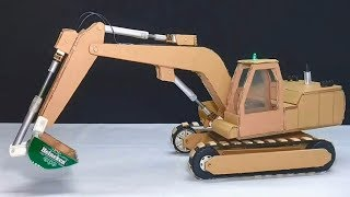 Amazing RC Excavator toy - DIY from Cardboard