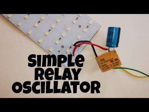 Simple Relay Oscillator | warning flash | using relay and capacitor.
