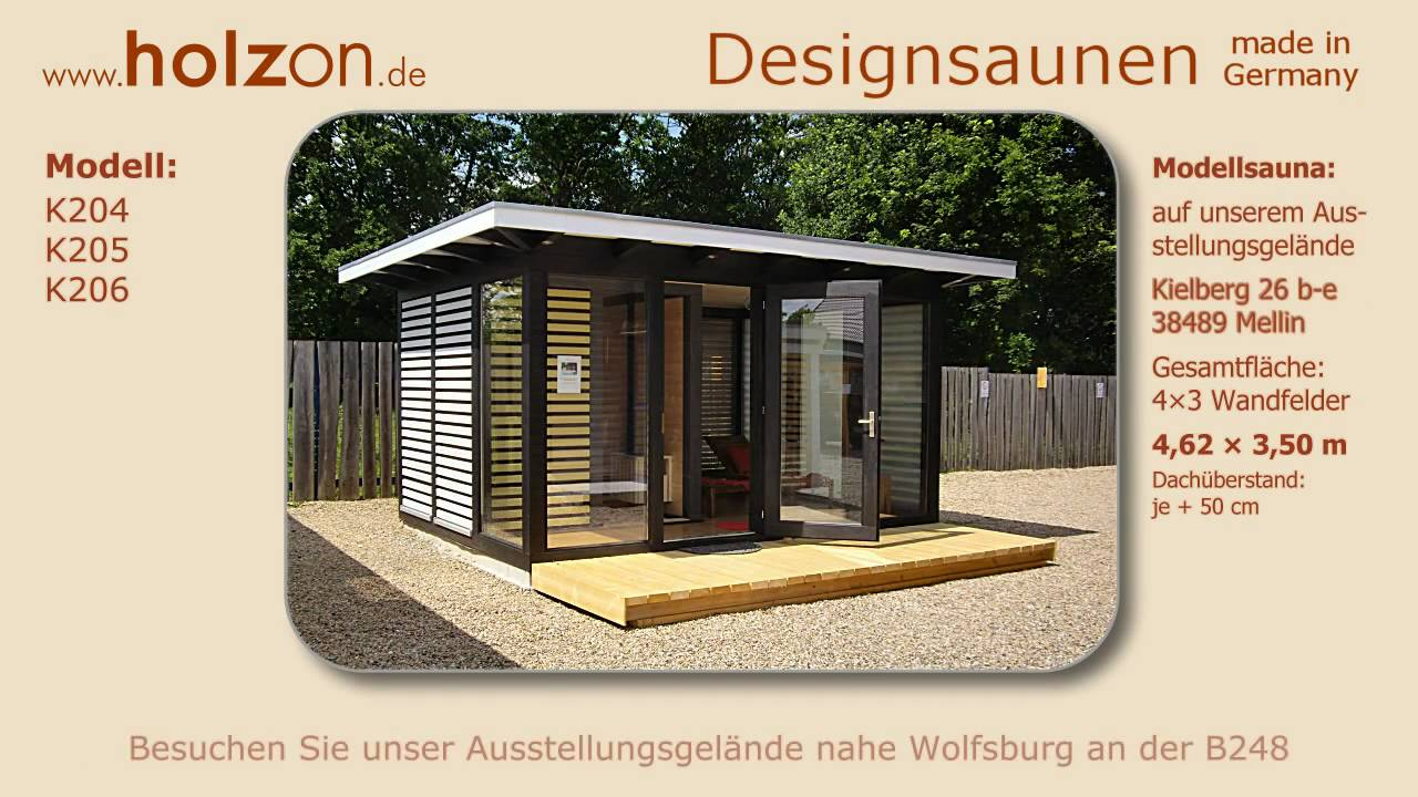 holzon design sauna modelle edle garten sauna aussensauna youtube. Black Bedroom Furniture Sets. Home Design Ideas