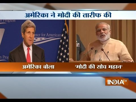 Narendra Modi 's 'Sabka Saath Sabka Vikas' is great vision, says John Kerry
