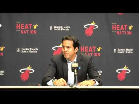 Miami Heat coach Erik Spoelstra after loss to Spurs