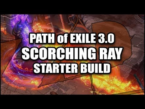 PATH of EXILE 3.0 Starter Build - Scorching Ray Inquisitor (Righteous Fire Mind Over Matter)