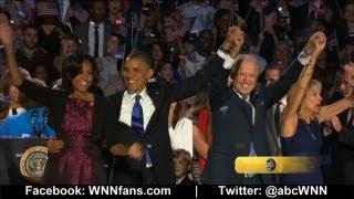 Raw Video : Barack Obama Wins 2012 Election