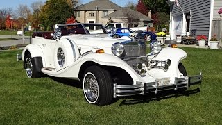 1982 Excalibur Phaeton in White paint / 80's Car of the Stars on My Car Story with Lou Costabile