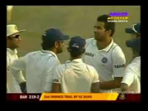 Zaheer Khan 7/87 vs Ban 2010