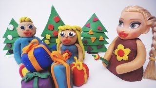 Christmas learn colors and shapes Play Doh Cartoon Video Educational Kids Stop Motions