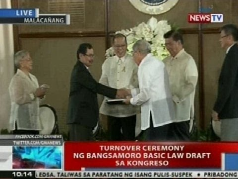 NTVL: Turnover ceremony ng Bangsamoro Basic Law draft sa Kongreso