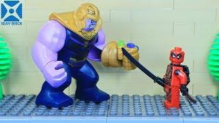 LEGO Arcade Game: Deadpool vs Thanos/Cable   LEGO Stop Motion Parody   Xeay Brick Films