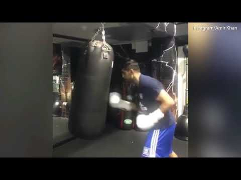 Boxer Amir Khan workouts ahead of his I'm A Celebrity appearance