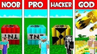 Minecraft - NOOB vs PRO vs HACKER vs GOD : SUPER TNT BATTLE in Minecraft ! AVM SHORTS Animation