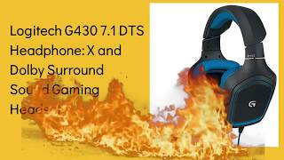 Logitech G430 7.1 DTS Headphone Gaming Headset QUICK REVIEW / The Best Seller on AMAZON 2019