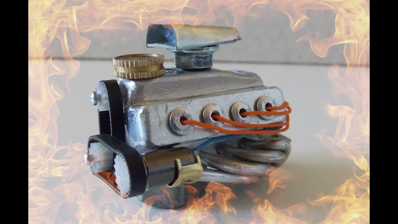 Двигатель внутреннего сгорания сделать своими руками для модели
