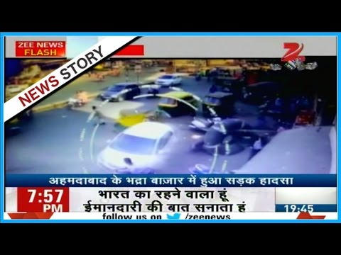 CCTV Footage of car accident in Ahemadabad goes viral