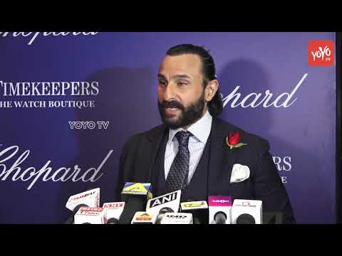 Saif Ali Khan |  An Event On 25th Anniversary Of Chopard Luxury Watch Event 2018 | YOYO TV Hindi