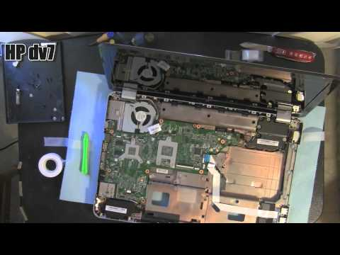 HP DV7 DV7-4000 laptop take apart video. disassemble. how to open. video disassembly