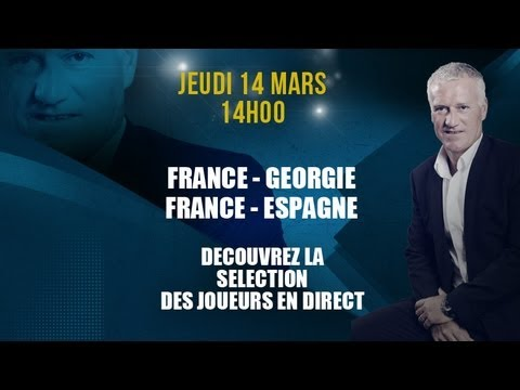 Conférence de Didier Deschamps en direct !