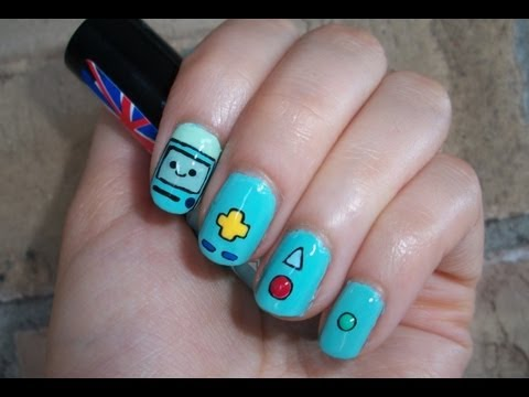 Adventure Time Inspired Nail