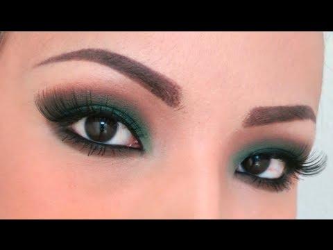 simple green smokey eye tutorial  youtube