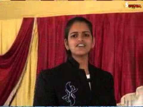 Vrushali Dharme Inspirational Speech Marathi 2014 Part 1 video