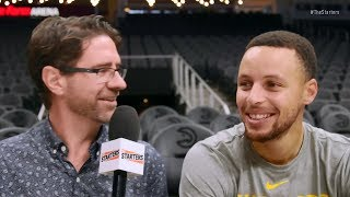 Stephen Curry On The Starters