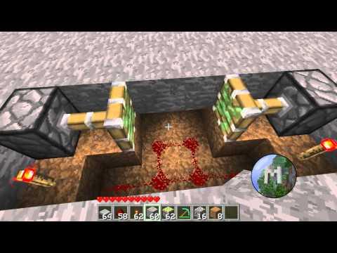 Minecraft Tutorials Easy Piston Trap How To Save Money
