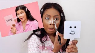 BLACK GIRL TRIES KYLIE JENNER MAKEUP