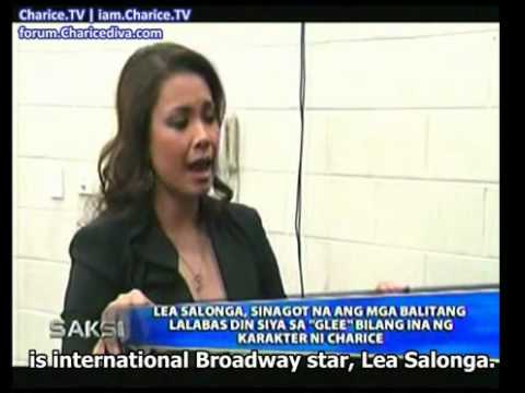 GMA Saksi - Lea Salonga denies Glee rumors as Charice