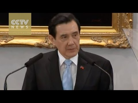 Taiwan leader Ma Ying-jeou briefs media on his upcoming meeting with President Xi