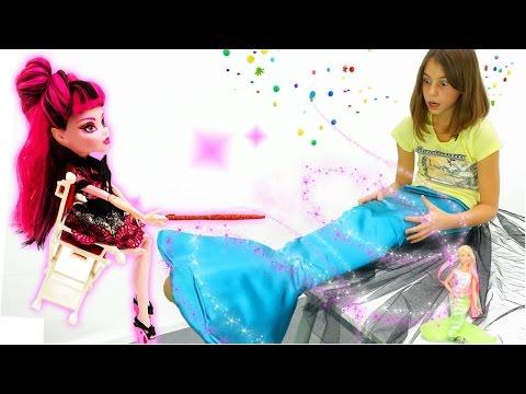 Подружка Вика - русалка! Игры с Барби