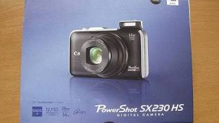 Canon PowerShot SX230 HS Digital Camera Unboxing