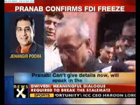 Pranab Mukherjee confirms FDI freeze