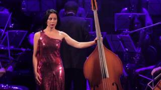 "Sanzhara,  double bass, ""WOMAN WITH BASS"""