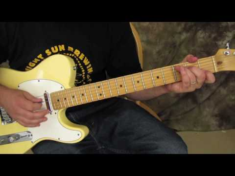 0 Rock and Blues Electric Guitar Solo Lesson   Double stops 3 ways fender telecaster