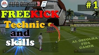 HOW TO SHOOT FREE KICK IN FIFA ONLINE 3 - FO3 TUTORIAL (Technic - Tricks - skills )..⚽⚽😉 !!