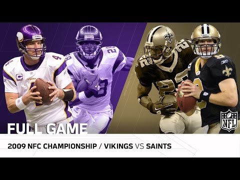 2009 Nfc Championship Game Minnesota Vikings Vs New Orleans Saints