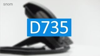 Snom D735 VoIP-Phone (English)