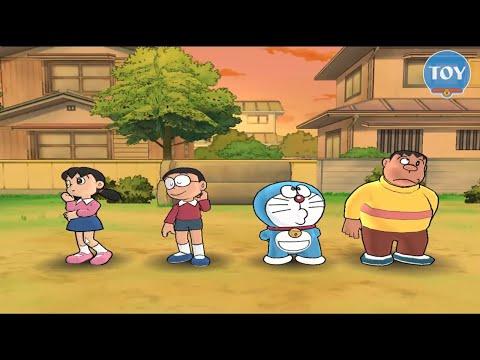 Chơi Doremon Wii bàn cờ vui nhộn cu lỳ chơi game lồng tiếng Doraemon câu cá 3D thumbnail