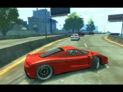 GTA IV - Ferrari Enzo + Better City Texture + VisualIV Mod
