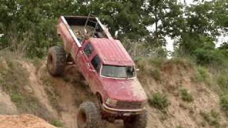 HUGE FORD DIESEL MUD TRUCK Climbs GIANT Hill