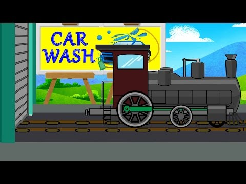 Train Wash Video For Kids | Car Wash Videos | Videos For Baby & Toddlers