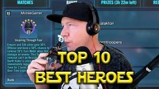 Star Wars: Galaxy Of Heroes: Top 10 Best Heroes April